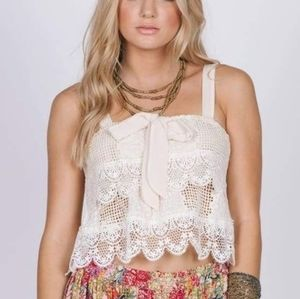 NEW RAGA State Of Dreaming crochet cropped top